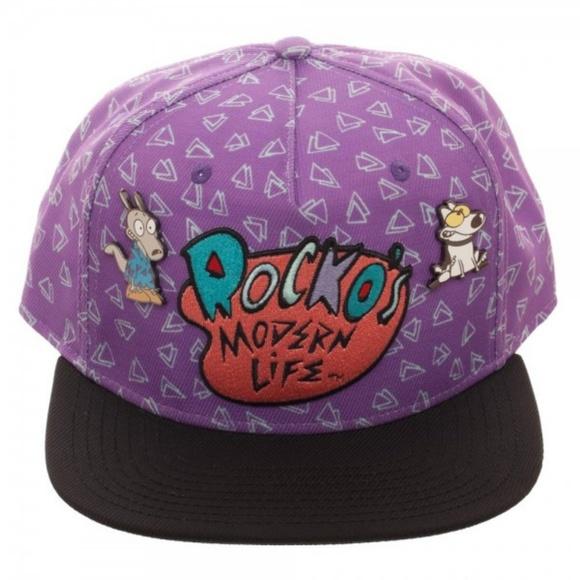 d31546b7e Rocko's Modern Life Logo Purple Snapback Hat Adult Boutique